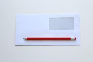 Umschlag und Stift